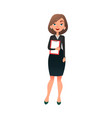 young successful female office manager smart vector image vector image