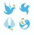 set of symbols dove of peace vector image