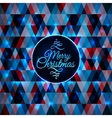 Merry Christmas card abstract blue geometric vector image