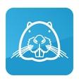 Otter beaver icon Animal head vector image