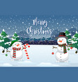 a christmas outdoor background vector image