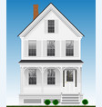 a typical and classic american house made of wood vector image vector image