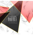 abstract marble texture with geometric shapes vector image vector image