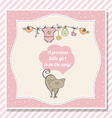 baby girl shower card with little cat vector image