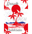 beach california vector image vector image