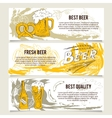 Beer banners or website header set vector image