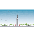 Big Ben Tower in London and Blue Sky vector image vector image