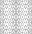 black and white seamless linear geometric pattern vector image vector image