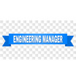blue stripe with engineering manager caption vector image vector image