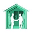broker and client handshake vector image