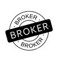 Broker rubber stamp vector image