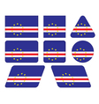 buttons with flag of Cape Verde vector image vector image