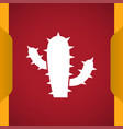 cactus icon vector image vector image