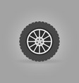 car wheel flat icon on gray background vector image vector image