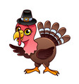 cartoon turkey isolated vector image vector image