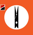 clothespin for fastening clothes vector image