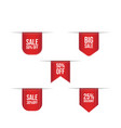 collection red discount stickers promotion vector image