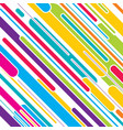 colorful stripe pattern design vector image vector image