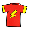 comic cartoon t shirt with lightning bolt vector image vector image