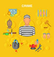 crime accident concept cartoon style vector image vector image