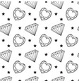 diamond seamless pattern line sketch doodle vector image