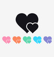 double heart simple icon symbol of love happy vector image vector image