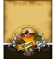 Drink menu vector image vector image