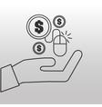 e-commerce onlne shopping icon vector image vector image
