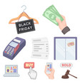 e-commerce set icons in cartoon style big vector image vector image