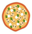 feta and mushroom pizza print vector image vector image