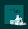 first aid kit medical health vector image vector image