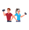 fitness man and woman vector image vector image