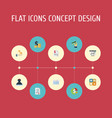 flat icons stock card profit and other vector image vector image