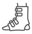 foot splint line icon orthopedic and medical leg vector image vector image