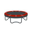 Garden trampoline icon flat style