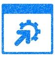 Gear Integration Calendar Page Grainy Texture Icon vector image vector image