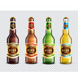 glass beer bottles transparent background