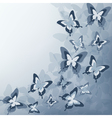 Grey background with butterfly vector image