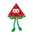 happy cartoon watermelon vector image vector image