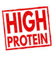 high protein sign or stamp vector image vector image