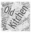 Home Decorating Old World Style Word Cloud Concept vector image vector image