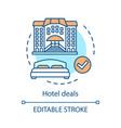 hotel deals concept icon vector image vector image