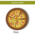 italian cuisine pizza icon for restaurant vector image vector image