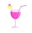 juice glass flat design vector image