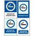 Label set Smoking area vector image