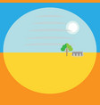 landscape perspective is a flat image background vector image