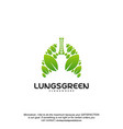 lung care logo designs nature lungs logo concept vector image vector image