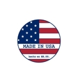 made in USA stamp with flag vector image vector image