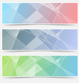Modern abstract crystal structure cards set vector image vector image