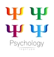 Modern logo Set of Psychology Psi Creative style vector image vector image